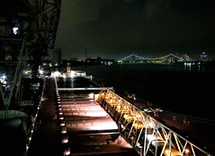 Detroit Nightscape (knutsonrick) Tags: detroit gm renaissancecenter ambassadorbridge skyline zug zugisland ussteel greatlakesworks americansteamshipcompany