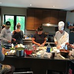 BC Team Summer Training Group in the kitchen with chef Alex Tavouchis