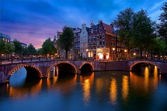 Keizersgracht Famous Canal (l.cutolo) Tags: tourism architecture water worldtrekker citylights amsterdam zeisslens bridge intensecolors sky tulip ononeraw holland citylife city lucacutolo canal flowers ams citycentre sunset monument sharp art vignette lighttrails tlp reflections sonya7ii cityscape ngc europe shy canalboat sony colours world sonyfe2470mmf40zaoss