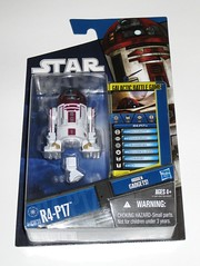 r4-p17 obi-wan kenobi's astromech droid star wars the clone wars blue black packaging basic action figures 2010 hasbro mosc a (tjparkside) Tags: r4p17 obiwans astromech droid cw 30 cw30 tcw sw star wars clone 2010 basic action figure figures hasbro blue black card packaging silver display base stand third leg chest panel panels arm arms droids obi wan wans kenobi kenobis r4 p17 centre cable hook sensorscope obiwan