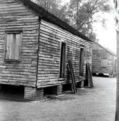 Slave Cabins (bongo najja) Tags: plantation whitney s pro c330 mamiya fp4 ilford