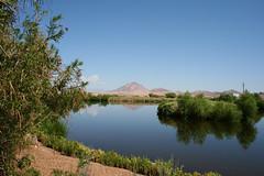 Desert reflections (bljakkl) Tags: mountains water sky reflections bird preserve sanctuary desert henderson las vegas nevada scenery sumer foliage hot warm waterfowl