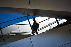 Shadow walker (iamunclefester) Tags: münchen munich shadow stairs street