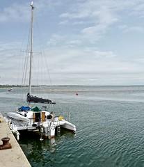 BirdsEyeView (Hodd1350) Tags: dorset christchurch mudeford mudefordquay sea water yacht mast bollard quayside clouds sky horizon gull leica leicaq outboardmotor buoyant