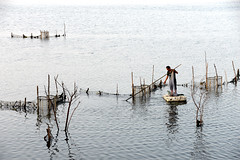 Shrimp cage 蝦籠 (MelindaChan ^..^) Tags: guangxi china 廣西 shrimp cage chanmelmel mel melinda melindachan life farm pond water fisherman è¦ç± 廣西 東興 澫尾島 fishing tradition beach
