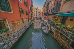 Venice canal (y.mihov, Big Thanks for more than a million views) Tags: venice sonyalpha sightseeing sigma skyes sea street stone sony venezia italy islands boat gondola water wealth winter wide 1224mm colours europe europa morning trespass travel tourist town city urban