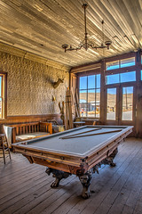 Wheaton & Hollis Hotel (HDR) (Jeffrey Sullivan) Tags: wheaton hollis hotel bodie state historic park abandoned building interior photography workshop interiors bridgeport eastern sierra mono county california united states usa canon 5d mark iii photo copyright june 13 2015 jeff sullivan rural decay antique billiards table