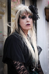 Portrait from the Whitby Steampunk Weekend IV - Days Like These (Gordon.A) Tags: yorkshire whitby steampunk whitbysteampunkweekend iv dayslikethese wsw july 2018 whitbygoths goth gothic convivial creative costume culture lifestyle style street festival event streetevent eventphotography amateur streetphotography pose posed portrait streetportrait naturallight naturallightportrait lady woman people colourportrait colourstreetportrait digital canon eos 750d sigma sigma50100mmf18dc