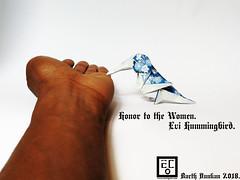 Honor to the Women Evi Hummingbird - Barth Dunkan. (Magic Fingaz) Tags: barthdunkan bird burung chim oiseau origami origamibird pájaro pássaro ptak uccello vogel птица นก 鳥 鸟