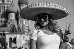 The Mundial. Moscow 2018. Street portrait. (Kazemir.) Tags: moscow summicronm50 russia leicacamera leicam240 mundial blackandwhite ledy woman girl