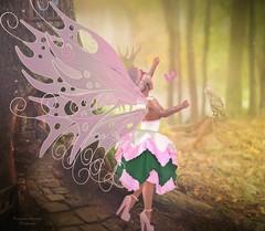 .. Fairy Dust .. (Pocahontas Kowalsky) Tags: lootbox vanilla bae aurora blush event slackgirl heels lee rare dress wings bento mesh avatar fabia rewind carol g nelly tattoo maitreya belleza freya