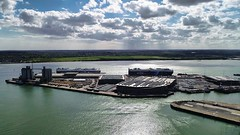 Southampton UK - Eastern docks (thephantomzone2018) Tags: dji drone docks dock thephantomzone2018 cruise cruises aerial vts abp departure liner harbour gb queen mary 2 mein southampton ship solent schiff boat