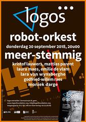 Logos poster September (Peter Van Lancker) Tags: orange poster logos foundation stichting experimental polyphony polyphonic experimenteel eksperimenteel godfriedwillem raes music muziek