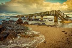 Pans rock (jim2852) Tags: beach shore bridge island northernireland rocks rocky shoreline causewaycoast ireland sea ocean landscape