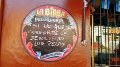 Peluquería - Hairdresser (Raúl Alejandro Rodríguez) Tags: peluquería hairdresser cartel sign mural calle gorriti street buenos aires argentina banderas flags