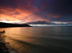 New Quay Sunset 1 (Mark Bradley) Tags: landscape wales newquay sea ceredigion seascape sunset
