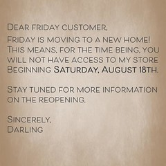 friday is moving to a new home! (Darling Monday) Tags: friday