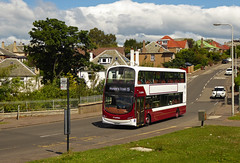 From one area to another... (SRB Photography Edinburgh) Tags: lothian buses bus transport edinburgh greenbank oxgangs road grass trees hosues livery repaint