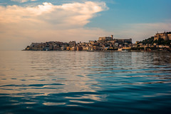 Coastal settlement.... (Dafydd Penguin) Tags: ancient greek greece roman rome villa antiquity historic port harbour harbor dock town city urban coastal coast sea water castle gaeta italy mediterranean samians leica m10 7artisans 50mm f11