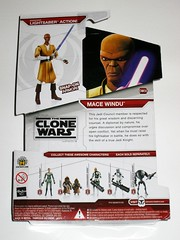 mace windu cw06 star wars the clone wars red white card basic action figures 2009 hasbro mosc b (tjparkside) Tags: mace windu star wars clone cw06 cw 06 tcw basic action figure figures hasbro 2009 red white card packaging lightsaber helmet shoulder armor left right arm snap jedi council master knight admiral yularen jawas commander gree arf trooper heavy assault super battle droid