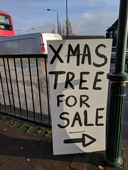 XMAS TREE FOR SALE (Martin Deutsch) Tags: xmas trees sign sale arrow