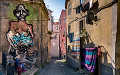 Graffiti in Alfama, Lisbon (fried oreo cookie) Tags: lisbon europe portugal travel amazing impressive colors canon 5dsr 5d digital 50mp sintra graffiti art artist resting old traveling walking
