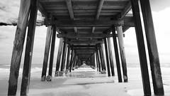 Jetty at Henley Beach - monochrome (s.haydon) Tags: henleybeachjetty jetties southaustralia sea lines water gimp pentaxart smcpentaxda21mmf32allimited