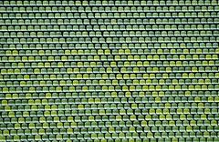 Green Seats (only lines) Tags: green seats stadium olympicstadium munich