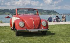 VW Coccinelle cabriolet (Philippe Bélaz) Tags: allemagne allemande cabriolet d800e morat anciens automobiles coccinelle collections exposition lacs nuageux oldtimer orange plages retro vintage voitures vw été