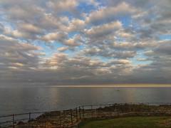 ... Tuesday evening's view... [Explored 22/08/18 - thank you!] (jane64pics) Tags: greystonesbeach seaside bythesea cloudscape clouds sundown janefriel2018 janefrielphotography cameraphone mobilephonephotography htcphone seaandsky