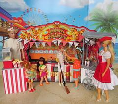 15. Summer bliss (Foxy Belle) Tags: doll vintage barbie diorama summer carnival fair 16 scale playscale food beach sand boardwalk ice cream stand game ricky boy skipper skateboard set stacey chris mrs beasley ken