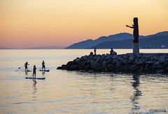 Welcome Home (Clayton Perry Photoworks) Tags: vancouver bc canada summer explorebc explorecanada amblesidepark westvancouver sunset paddleboarding thewelcome