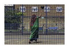 Sport for All Battersea © (wpnewington) Tags: ball play playarea sportforall rgb sport estate london battersea basketball red blue green cage mesh leisure