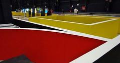 MILANO - Hangar Bicocca (cannuccia) Tags: milano lombardia hangarbicocca musei geometrie colori arte rosso giallo astratto astrattismo linee curve