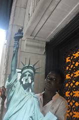 door (greenelent) Tags: abolishice statueofliberty brooklyn nyc patriciaokoumou 365 photoaday streets people protest immigration