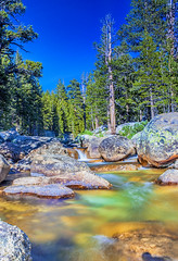 Amazing Water Streams Shot in Yosemite National Park in California. Long Shutter Speed Used.HDR Toning (DmitryMorgan) Tags: brook hdrimage hdrtoning landscape rapids stream usa yosemitenationalpark america american basin blue breathtaking california clam colorful enormous forest giant green highdynamicrange lake landmark mountain multiple national nature outdoor park peaks range remote rock scenery scenic sky summer sunny tourism tranquil travel unitedstates view vivid water