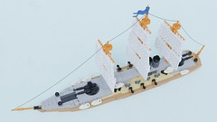 "Ironclad ""Legat-II"" (Sunder_59) Tags: lego moc render blender3d mecabricks military ship steam navy battleship warship"