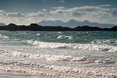 Morar Landscape 65 (chris-parker) Tags: scotland morar arisaig camasdarach camusdarach beach clouds sea sky lichen waves rum rhum blaven eigg sgurr