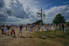 Traditional Midsummer Eve celebration in Hittarp (frankmh) Tags: people midsummercelebration hittarp helsingborg skåne sweden dancing