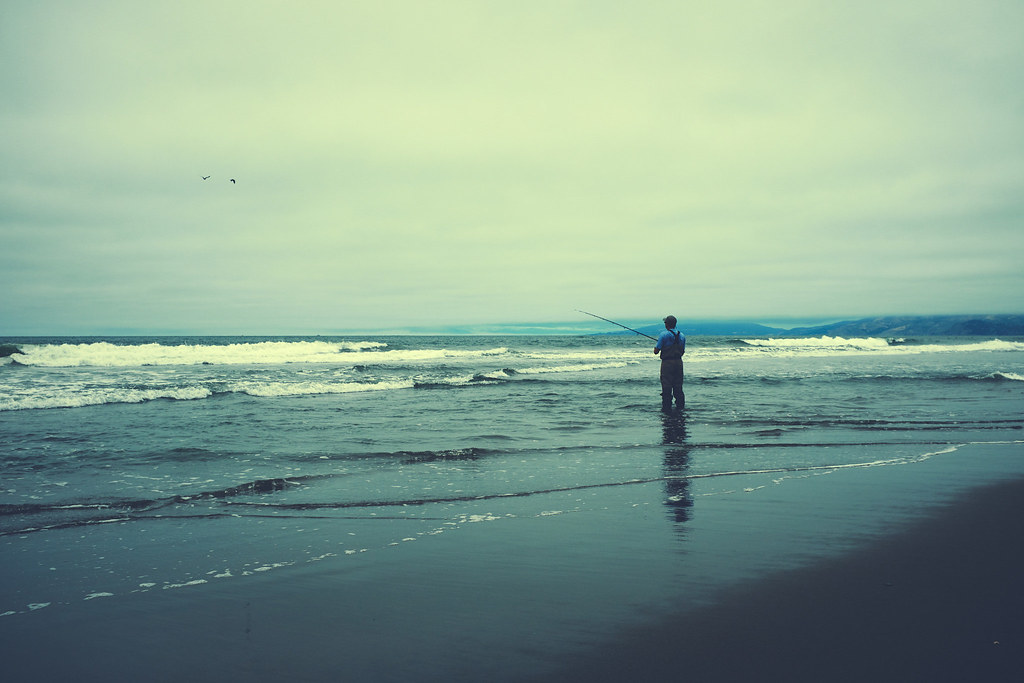blue man, blue ocean, blue day, blue