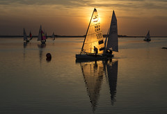 Sailing the Sunset (David Chennell - DavidC.Photography) Tags: westkirby marinelake boats sunset twilight goldenhour wirral merseyside silhoutte