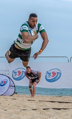Showing Off (Chris Willis 10) Tags: beach bournemouth rugby sport competition outdoors competitivesport sportsrace men people athlete action skill