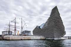 City of discovery and development! (Chris B70D) Tags: pirate boat boats trip tour sea river tay estuary weekend morning rib boating dolphins sight seeing va scenes landscape views canon 70d dslr dundee scotland coast water coastal city discovery adventure explore home grey neutral concrete broughty ferry town fife sky birds detail exposure contrast east eastcoast wide angle lighthouse buildings elevation kengo kuma architecture architect design victoria albert museum glass location form mass massing geometry architectural photography
