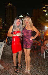 Cortney and Kelli at The Perch Rooftop Club in downtown Los Angeles (Cortney10100) Tags: anderson cortney black people nails thigh stilettos crossdresser crossdress transvestite transsexual trannie tranny femme highheels heels transgender tgurl tgirl tg tv red m2f mtf transvista cd feminized xdresser silver gray portrait kelli perry perch losangeles club