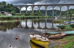 The Calstock Viaduct, River Tamar (Baz Richardson (away until early October)) Tags: devon cornwall rivertamar calstockviaduct railwayviaducts tamarvalleyrailwayline