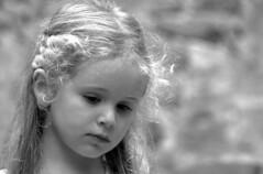 Portrait petite fille (ichauvel) Tags: petitefille littlegirl pensive thinking blonde lovely adorable mignonne cute jolie pretty noiretblanc blackandwhite blondeur expression var france provencealpescôtedazur europe westerneurope exterieur outside soir evening