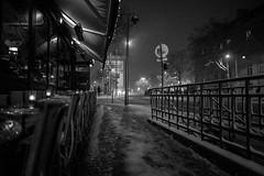 Arc de Triomphe in the snow (Molly Widstrom Photography) Tags: paris france arcdetriomphe champselysees lights snow february winter snowinparis ilneige minneapolisphotographer mollywidstromphotography metrostation parismetro