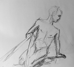 Wild Goose #lifedrawing 8.15.18 (Howard TJ) Tags: pencil gesture pose ohio columbus wildgoose study male life drawing lifedrawing