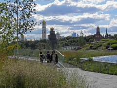 Zaryadye Park in Moscow (janepesle) Tags: ussia moscow nature architecture urban city travel church park cityscape summer москва зарядье парк природа пейзаж архитектура кремль церковь храм grass sky tree building