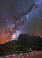 Milky Way Rising above Bluff Knoll - Stirling Ranges, Western Australia (inefekt69) Tags: stirling ranges bluff knoll panorama stitched mosaic milky way cosmology southernhemisphere cosmos southern westernaustralia australia dslr longexposure rural nightphotography nikon stars astronomy space galaxy astrophotography outdoor milkyway ancient sky 35mm d5500 landscape nebula coal sack tracked ioptron skytracker star tracking mountain airglow